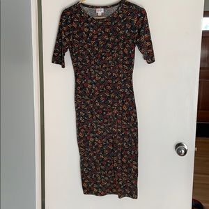 Leaf Print Midi Dress LulaRoe